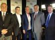 (From Left) American Red Cross Los Angeles Region-Glendale Chapter CEO Ronald Farina, Clear Channel Media + Entertainment Los Angeles Market President Greg Ashlock, Fox Sports Radio Host Pat O'Brien, California Earthquake Authority CEO Glenn Pomeroy and C