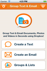 Group Text & Email Home Page