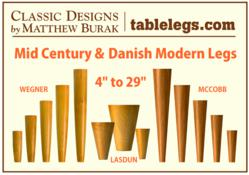Mid-Century Modern Legs and Danish Modern Table Legs from tablelegs.com