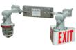 Emergency Backup LED Lights w/ Exit Sign for use in Hazardous Locations