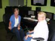 YA mystery writer, Linda Maria Frank (blue) heads the production team