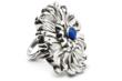 The chrysanthemum, a fall favorite, captured elegantly in a gorgeous sterling ring.