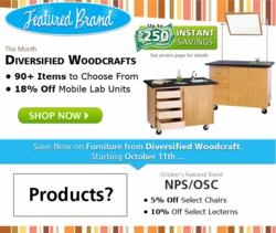 Save 18% off Diversified Woodcrafts Mobile Lab Units