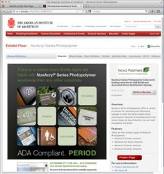 NovAcryl® ADA-complaint sign material is featured at the American Institute of Architects' new online Exhibitor Catalog