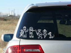 family car stickers, stick figure stickers, familystickers.com, family stickers