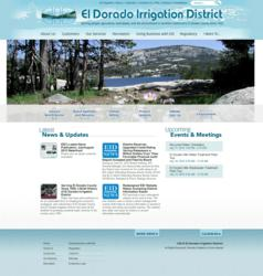 El Dorado Irrigation website powered by Vision Internet
