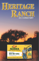 Cover of the Heritage Ranch Directory by Access Publishing of Paso Robles, CA
