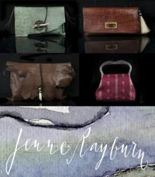 Designer Leather and Silk Handbags By Jenne Rayburn