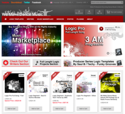 We Make Dance Music Site Preview