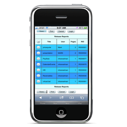 secure print release software mobile interface