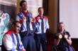 Paralympic Athletes Ali Jawad, David Stone, Claire Cashmore and Hannah Cockroft at the Paralympics Homecoming in Leeds