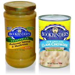 Two of Bookbinder's all natural and gluten-free, gourmet soups