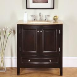 Mahogany Vanity With Modern Pulls HYP-0709-32 by Silkroad Exclusive