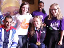 Reporters from Leeds earned their '2012 Reporter Medal' by interviewing Athletes Ali Jawad and Hannah Cockroft at the Paralympics Homecoming in Leeds