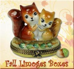Fal and Autumnl Limoges Boxes LimogesBoxCollector.com