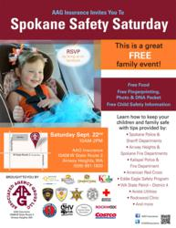 Spokane Safety Saturday.  Hosted by AAG Insurance