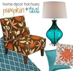Lamps Plus identifies pumpkin and teal as the hot fall colors for 2012