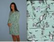 Ladies Short Sheep Flannel Nightgown