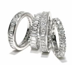 CZ Eternity Bands By Ziamond