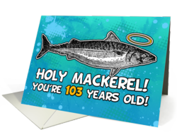 103rd Happy Birthday Card