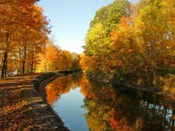 Photo of the Glens Falls Feeder Canal in Fall from Diane Collins