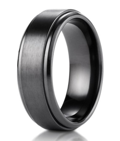 Black Titanium Benchmark Men's Wedding Ring