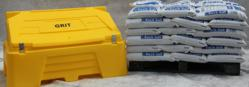 Rock salt and grit bin