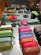 Colorful leather goods, pouches, card holders, etc. from Germany