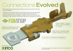 ETCO Flat Snap Product Created with Safety and Reducing Connector Manufacturing Injuries