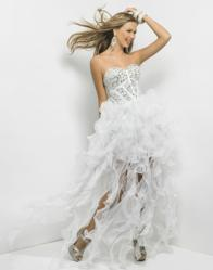 Blush Prom 2013 Style 9560 in White