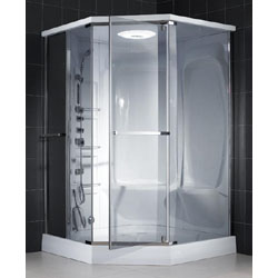 dreamline jetted and steam shower unit