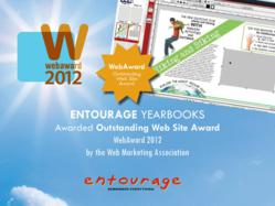 Entourage Yearbooks Awarded Outstanding Web Site Award for their online yearbook software.