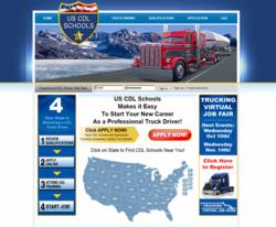 US CDL Schools Website Snapshot