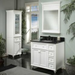 "Sagehill 36"" White Bathroom Vanity from the Cottage Retreat Collection"
