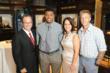 Mark Levinson, Miami Dolphin Daniel Thomas, Soraya and Chris Kidawski, Co-Founder of The Bess Route Foundation