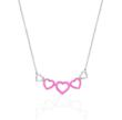 Sterling Silver and Pink Enamel Necklace by Levinson Jewelers to benefit the Ronald McDonald House Charities