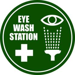 Industrial Floor Signs And Currently An Eye Wash Station