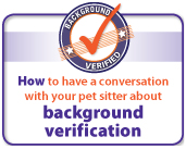 Background verification - Pet Sitters International