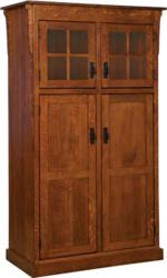 A classic design marks the Heritage Mission Four Door Pantry.