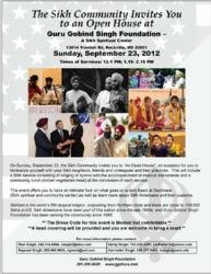 Sikhs Reach Out to their Neighbors with Open House