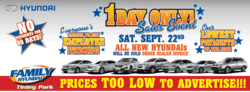 Chicago Hyundai Sale Ad Banner