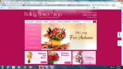 Website for Bella's Flower Shop