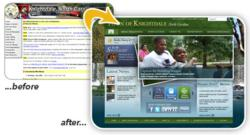Town of Knightdale website - before & after