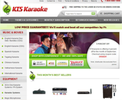 KTS Karaoke website for professional karaoke equipment, speakers, stands, and karaoke music