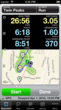 Runmeter on iPhone 5