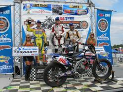 The Motorcycle-Superstore.com Springfield Mile Podium: Cody Johncox - 1st. Zakk Palmer - 2nd. Michael Bickerton - 3rd.