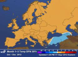 WSI European Weather Outlook  Oct - Dec 2012