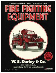 Darley fire equipment catalog #259. The picture includes a red fire truck in the center.