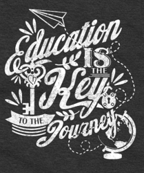 Education is the Key to the Journey t-shirt by Charity52
