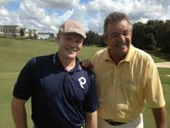 Matt Adams (L) with golf legend and Back9Network global ambassador, Tony Jacklin.